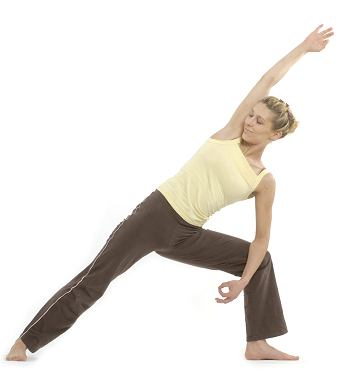 Yogaposition von unserem Plakat